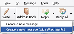 "Modified ""Create a new message"" button"